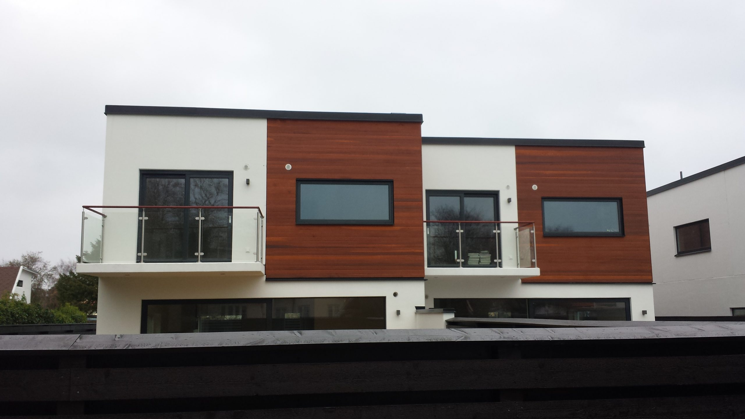 Cederträ fasad