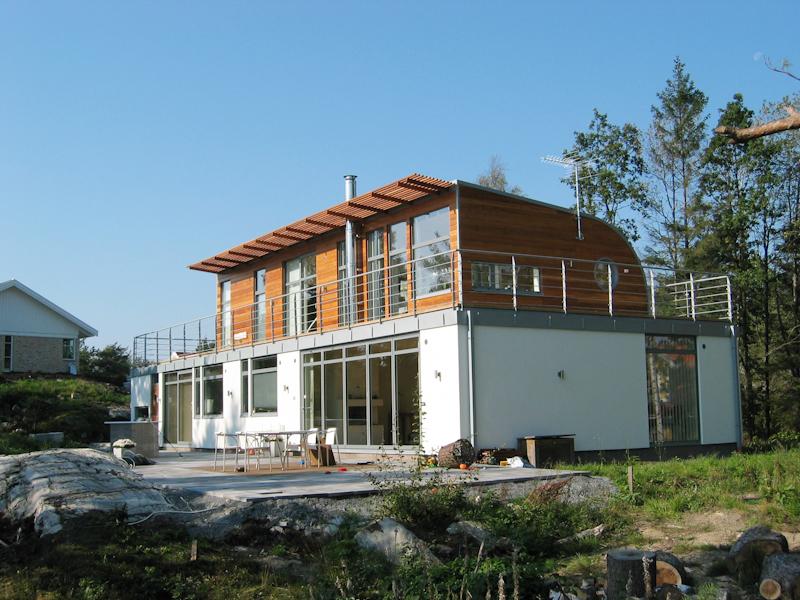Cederträ fasad våning 2