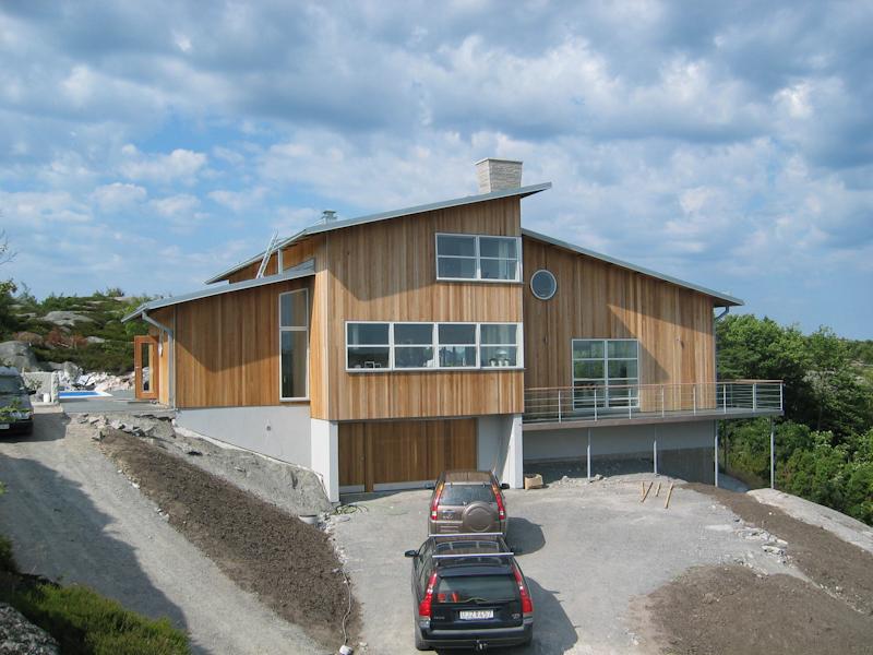 Cederträ hus