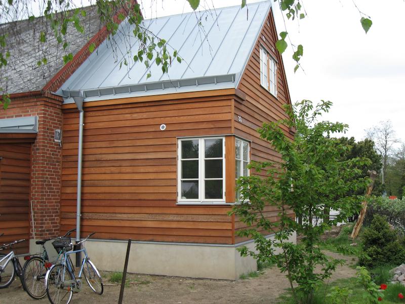 Cederträ fasad gavel