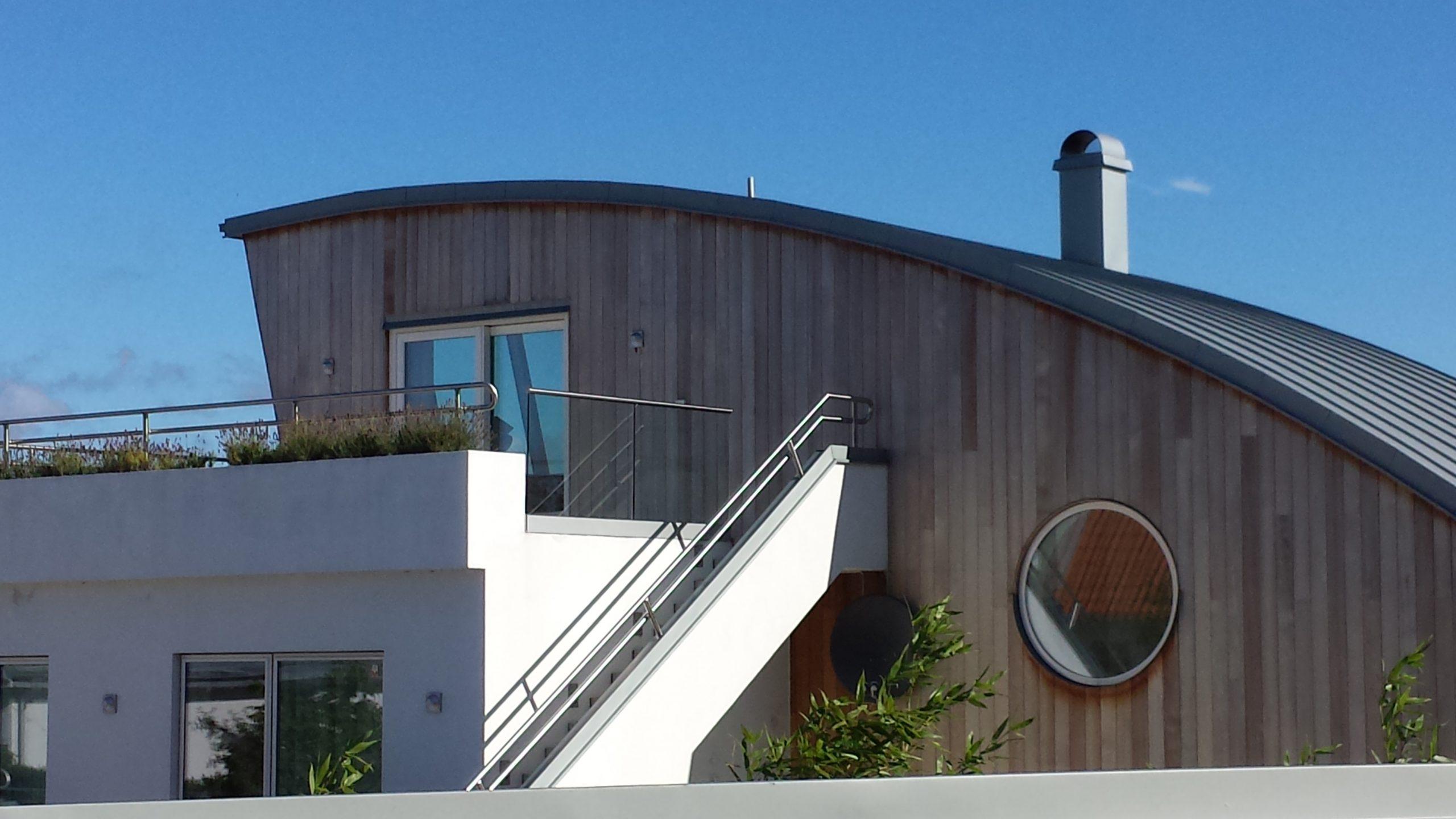 Grånad Cederträ fasad
