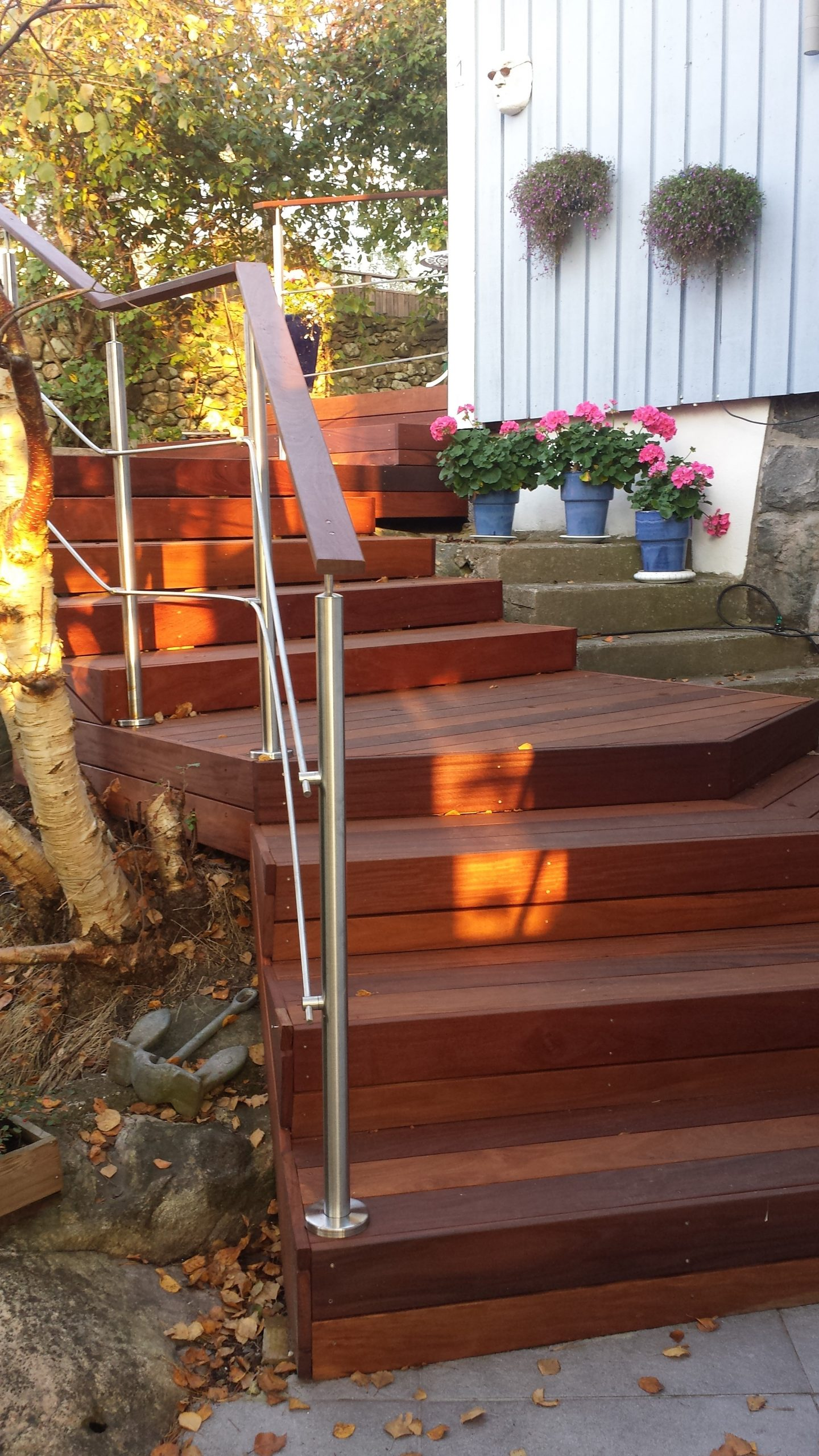 ipe och cumaru trappa