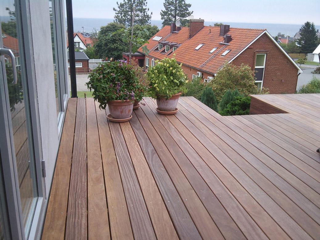 ipe trall cumaru trall balkong utsikt havet