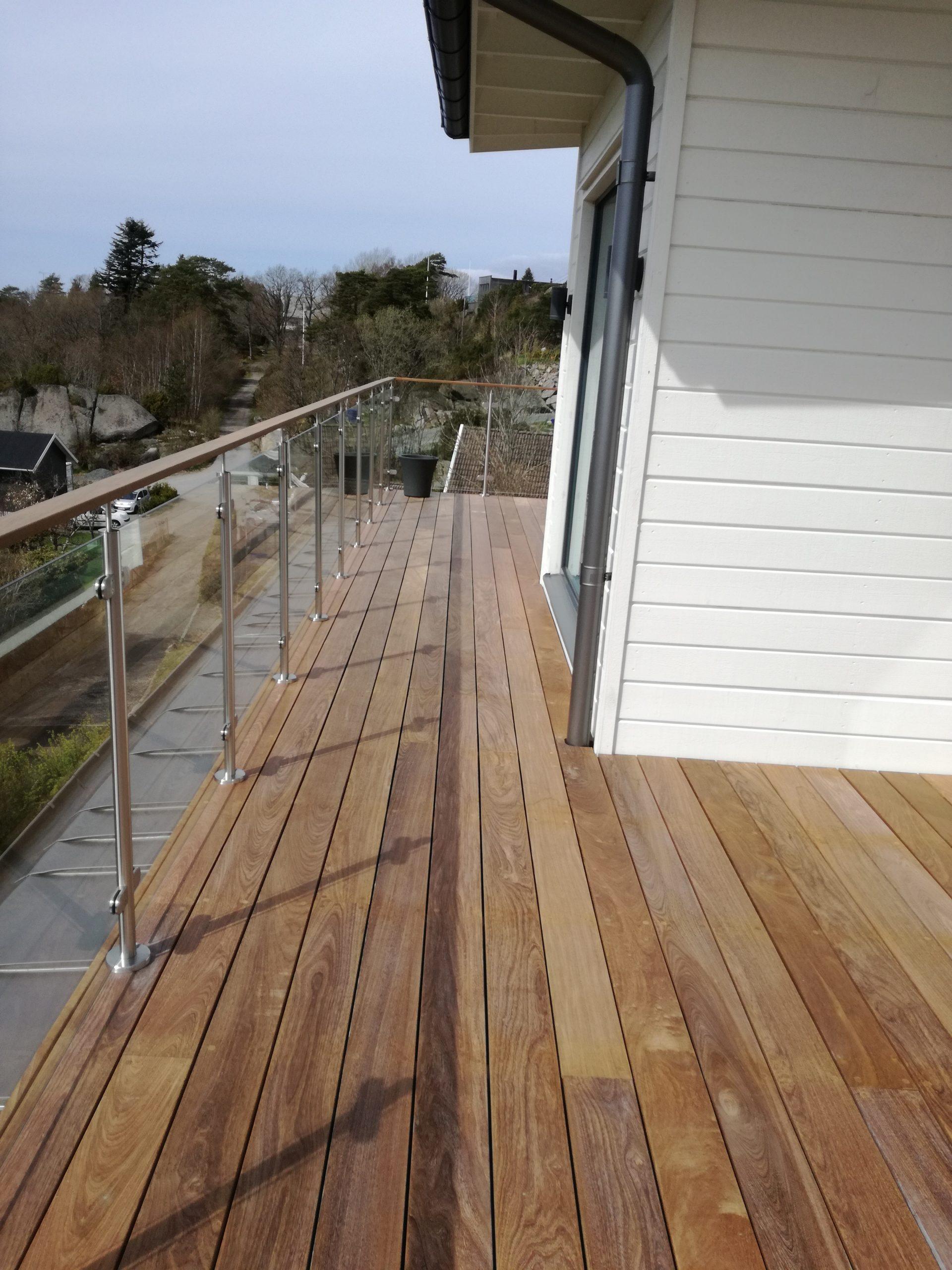 Ipe trall balkong altan